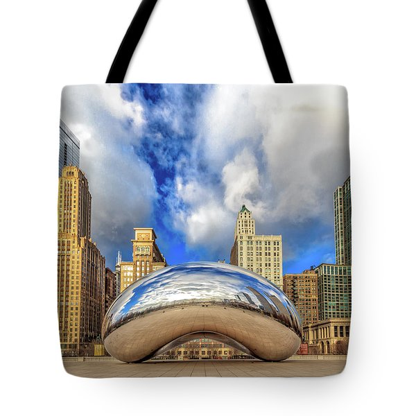 Tote Bag featuring the photograph Cloud Gate @ Millenium Park Chicago by Peter Ciro