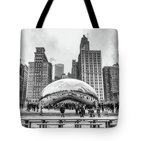 Cloud Gate Bw Tote Bag
