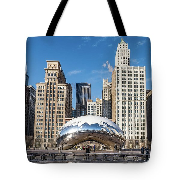 Cloud Gate To Chicago Tote Bag
