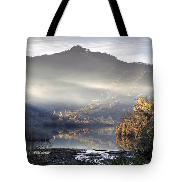 Mist In The Evening Tote Bag by Gouzel -