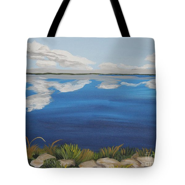 Cloud Lake Tote Bag by Annette M Stevenson