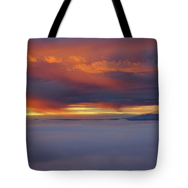Cloud Layer Sunrise At Dead Horse Point State Park Tote Bag