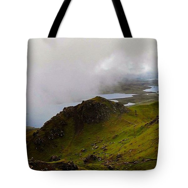 Cloud Lying Low On The Hills Of Skye - Tote Bag