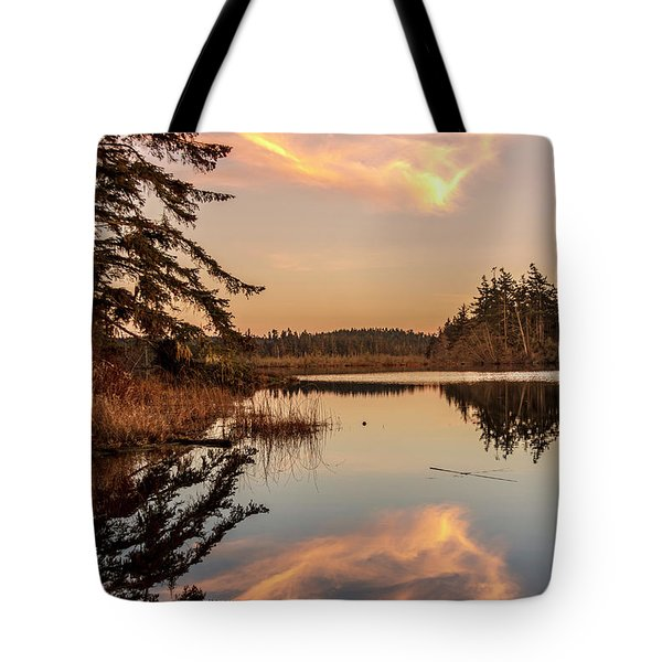 Cloud On Cranberry Lake Tote Bag