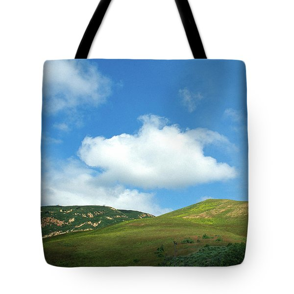 Cloud Over Hills In Spring Tote Bag by Kathy Yates