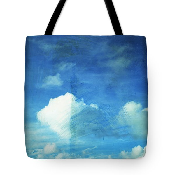 Cloud Painting Tote Bag by Setsiri Silapasuwanchai