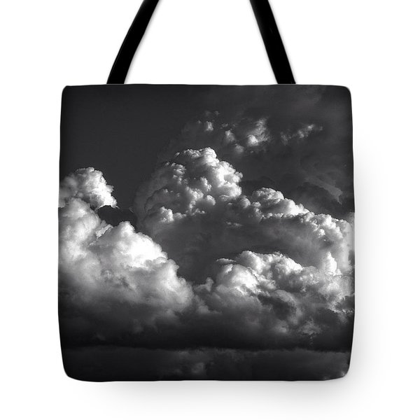Cloud Power Over The Lake Tote Bag