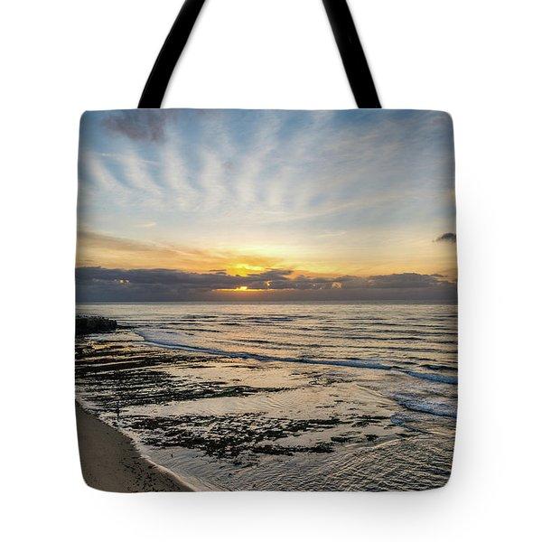 Cloud Rays Vertical Tote Bag