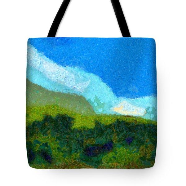 Cloud River Tote Bag by Spyder Webb