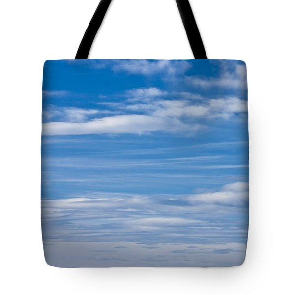 Cloud Streaked Blue Sky Tote Bag by Sandra Foster