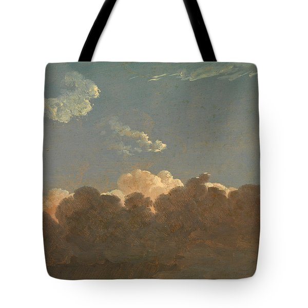Tote Bag featuring the painting Cloud Study. Distant Storm by Simon Denis
