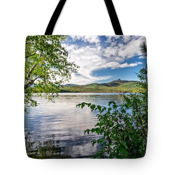 Tote Bag featuring the photograph Cloud Swirl Mt. Chocorua Nh by Michael Hubley