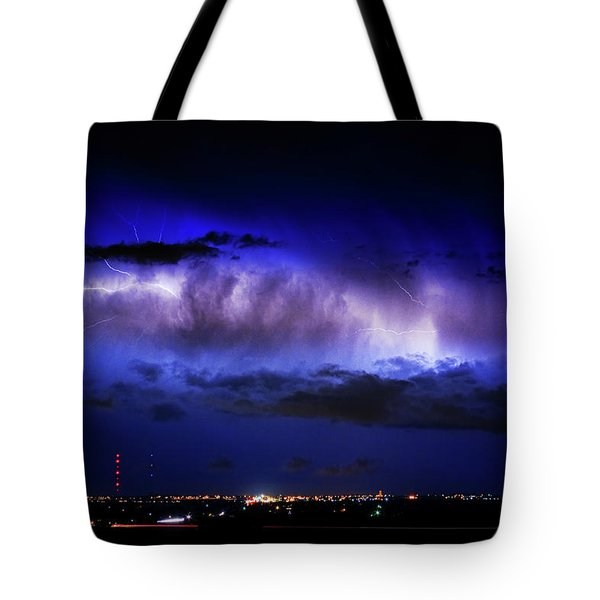 Cloud To Cloud Lightning Boulder County Colorado Tote Bag by James BO  Insogna
