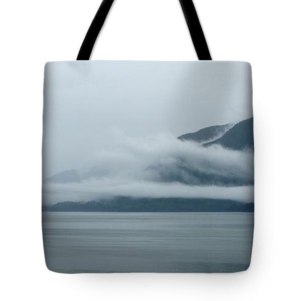Cloud-wreathed Coastline Inside Passage Alaska Tote Bag