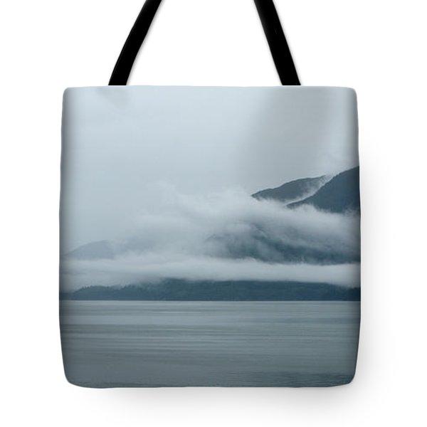 Cloud-wreathed Coastline Inside Passage Alaska Tote Bag