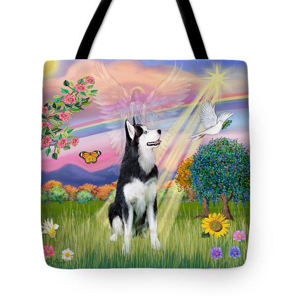 Cloudangel #1 - Siberian Husky Tote Bag