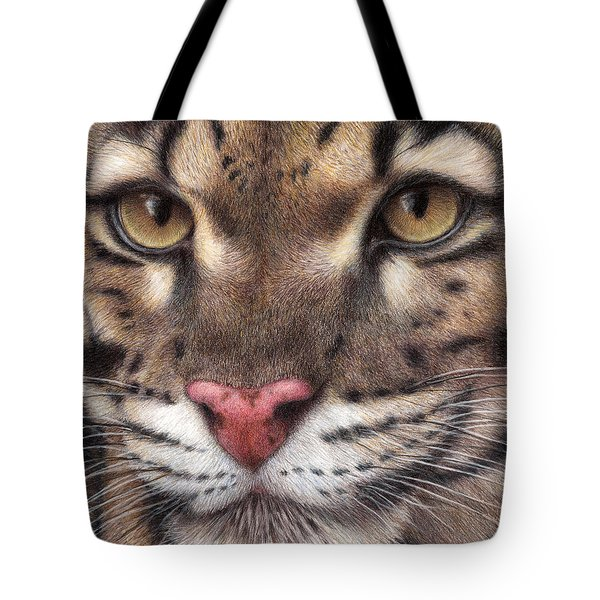 Clouded Leopard Tote Bag by Pat Erickson