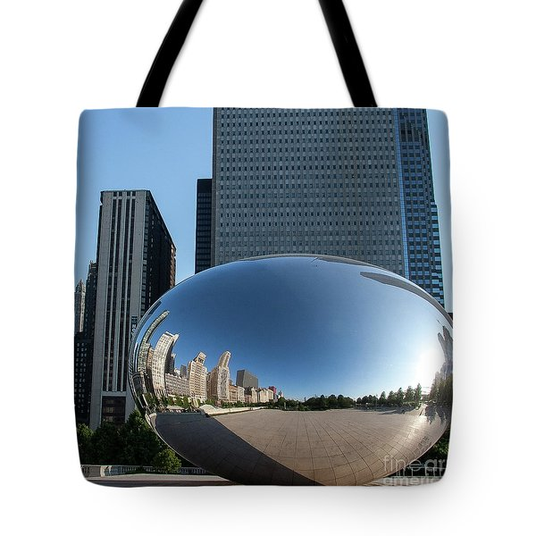 Cloudgate Reflects Tote Bag