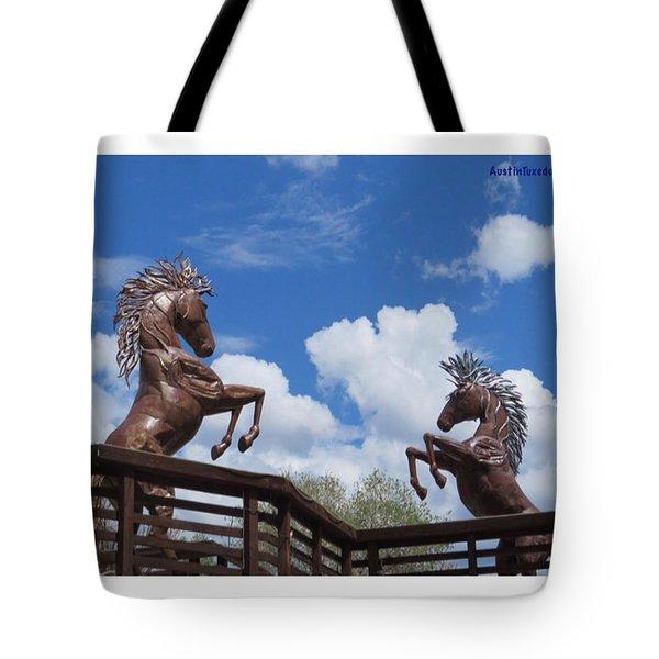 #cloudporn, #horse #sculptures And An Tote Bag
