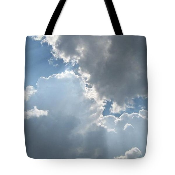 Tote Bag featuring the photograph Clouds 1 by Barbara Yearty