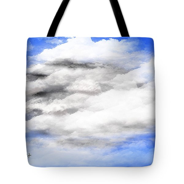 Tote Bag featuring the digital art Clouds 2 by Walter Chamberlain