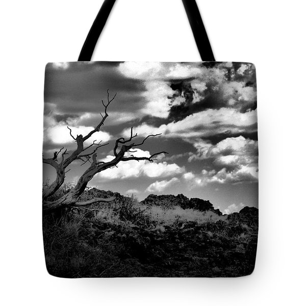 Clouds And A Tree Baw Tote Bag