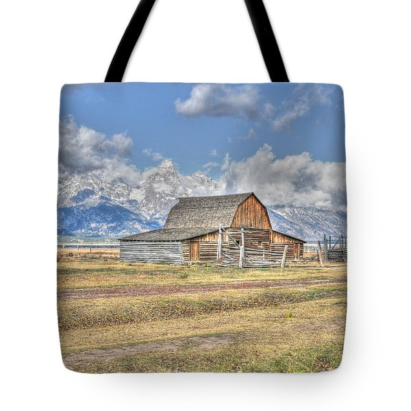 Clouds And Barn Tote Bag