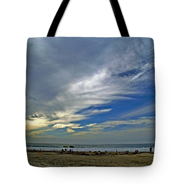Tote Bag featuring the photograph Clouds And Blue by Christopher Woods