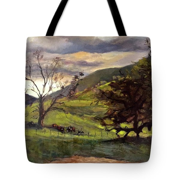 Clouds And Cattle Tote Bag