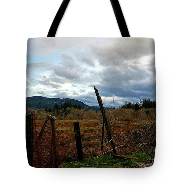Clouds And Field Tote Bag