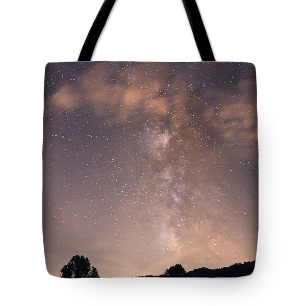 Tote Bag featuring the photograph Clouds And Milky Way by Wanda Krack