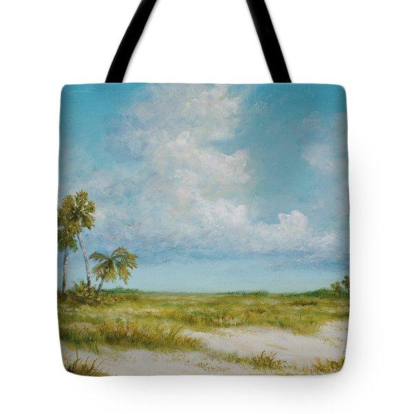 Clouds And Palms By Alan Zawacki Tote Bag