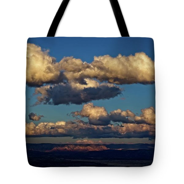 Clouds And Red Rocks Hdr Tote Bag