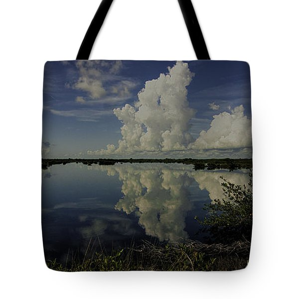 Clouds And Reflections Tote Bag