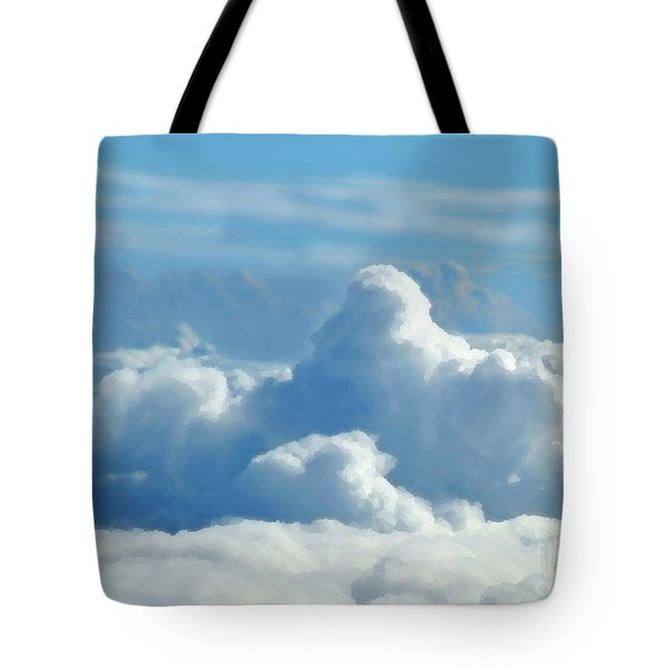 Tote Bag featuring the digital art Clouds And Sky M2 by Francesca Mackenney