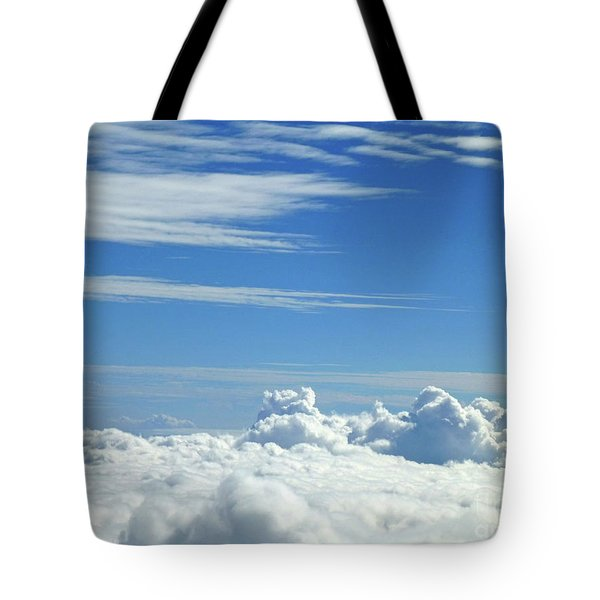 Tote Bag featuring the photograph Clouds And Sky M4 by Francesca Mackenney