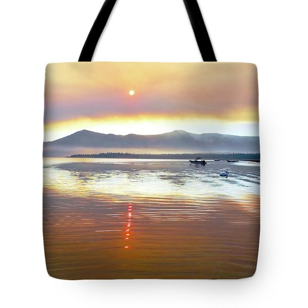 Clouds And Sun In A Smoky Sky Tote Bag