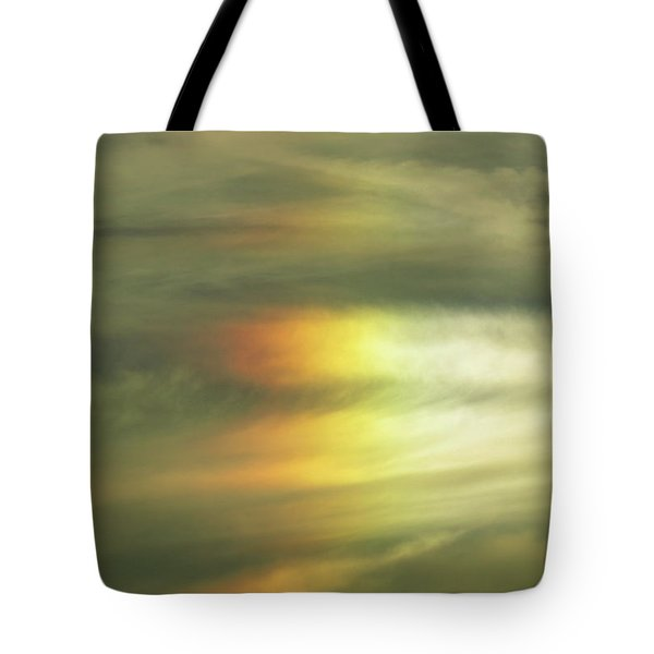 Tote Bag featuring the digital art Clouds And Sun by Kathleen Illes