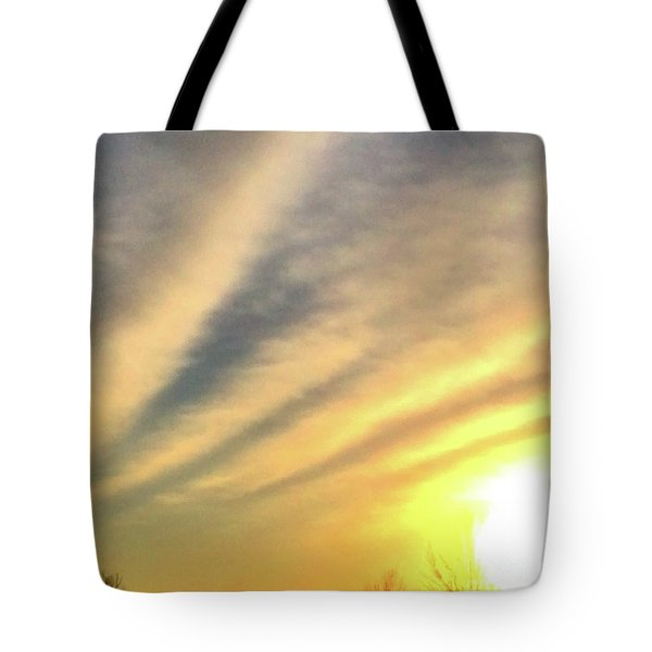 Clouds And Sun Tote Bag