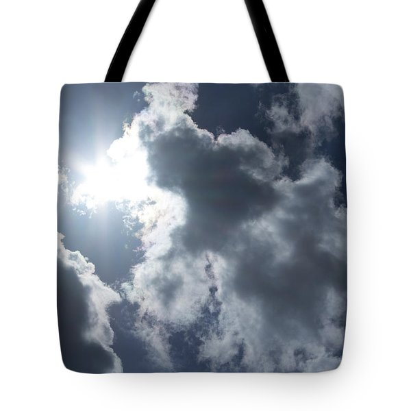 Tote Bag featuring the photograph Clouds And Sunlight by Megan Dirsa-DuBois