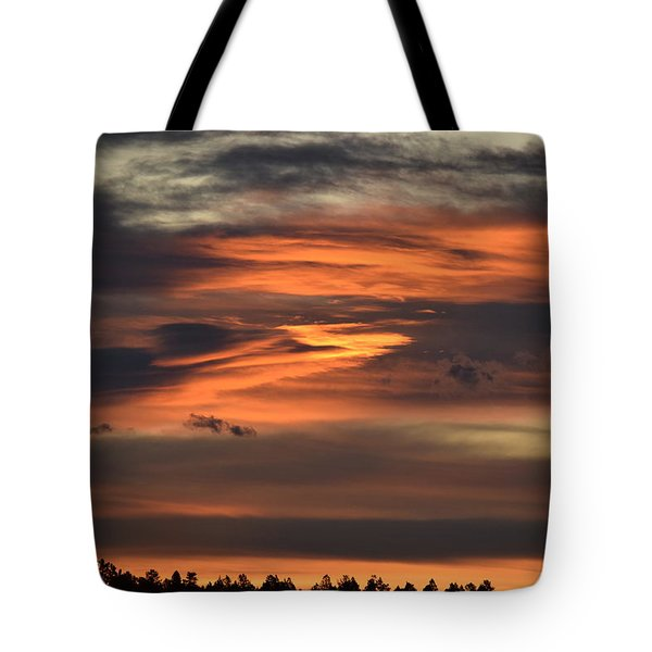 Tote Bag featuring the photograph Clouds At Dawn Over Ridge by Margarethe Binkley