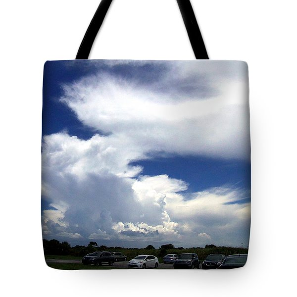 Tote Bag featuring the photograph Clouds At Honeymoon Island  by Chris Mercer