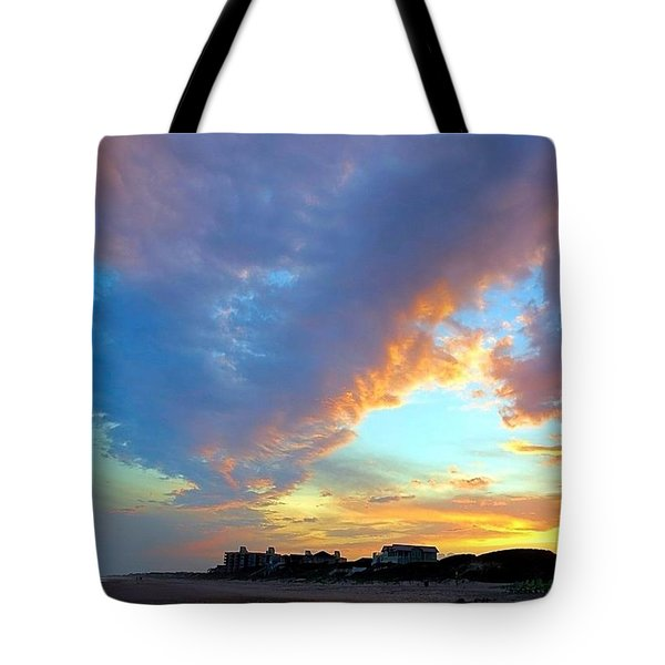Clouds At Sunset Tote Bag