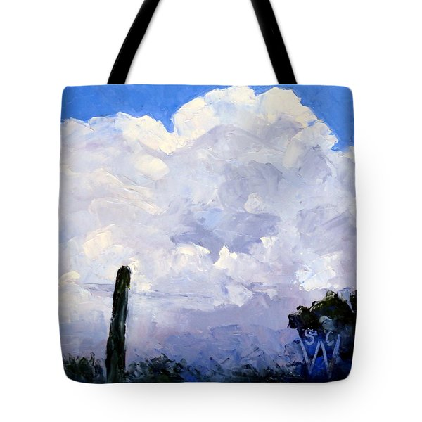 Clouds Building Tote Bag