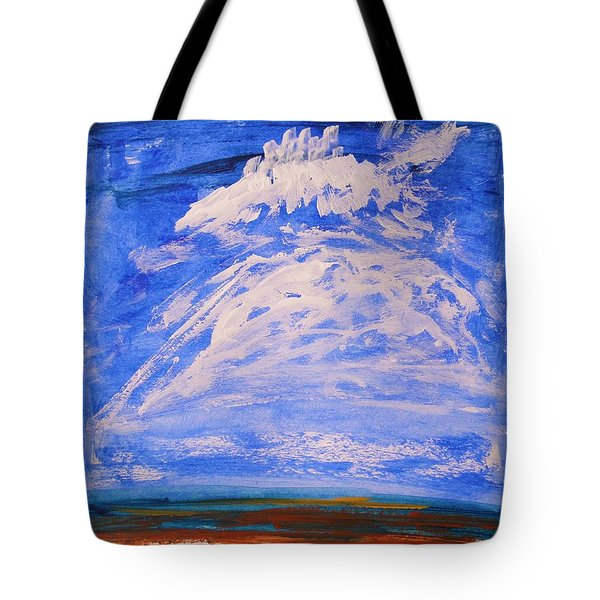 Tote Bag featuring the painting Clouds Dance by Mary Carol Williams