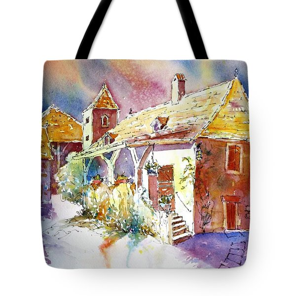Clouds Gathering Over Gizouzac Tote Bag by Tara Moorman