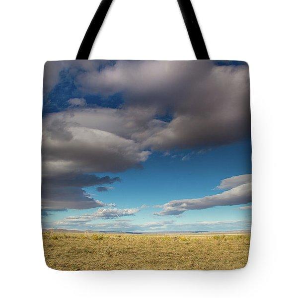 Clouds In Fields Oregon Tote Bag