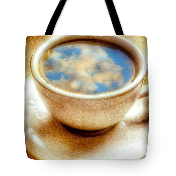 Clouds In My Coffee Tote Bag