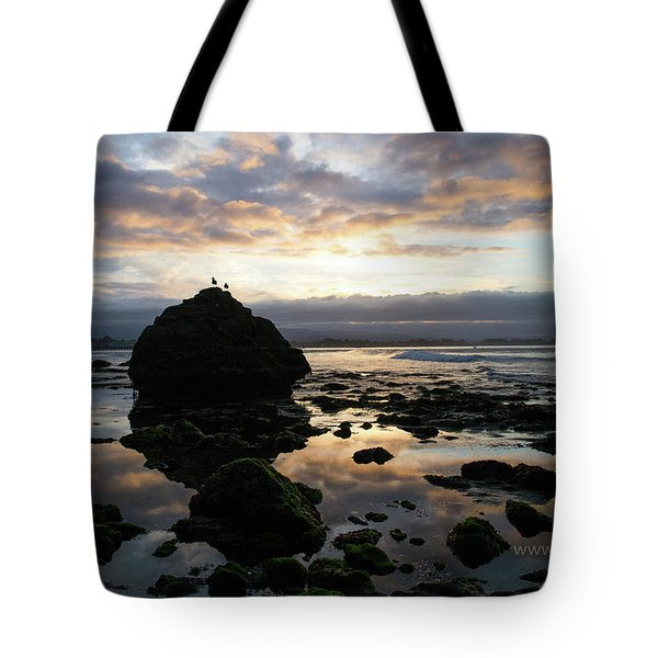 Tote Bag featuring the photograph Clouds In The Sea by Lora Lee Chapman