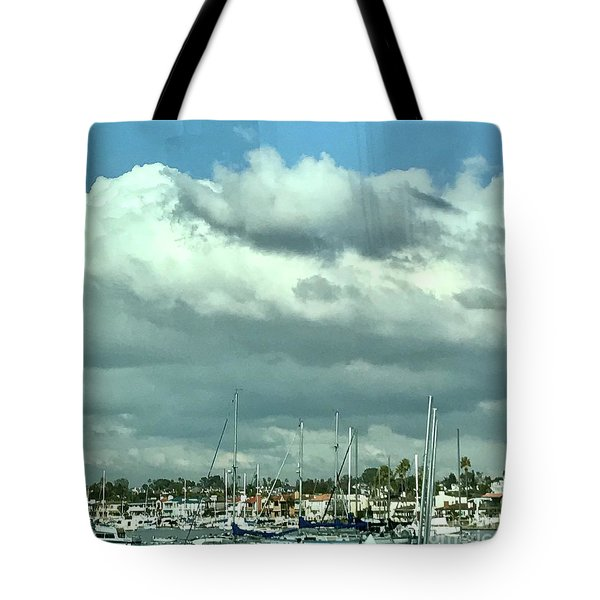 Tote Bag featuring the photograph Clouds On The Bay by Kim Nelson